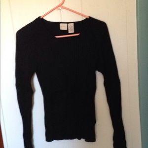 Merona blk ribbed sweater
